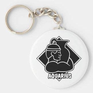 Horoscope Birthday Aquarius Keychain