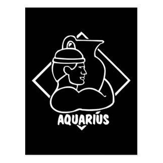 Horoscope Birthday Aquarius Postcard