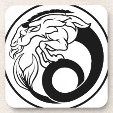 Horoscope Capricorn Zodiac Sign Beverage Coaster