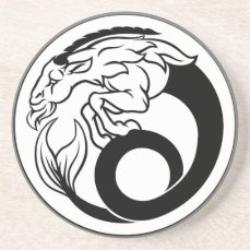 Horoscope Capricorn Zodiac Sign Coaster