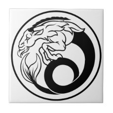 Horoscope Capricorn Zodiac Sign Tile
