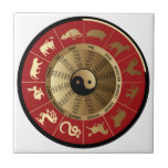 horoscope chinese zodiac small square tile
