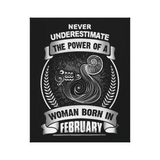 Horoscope February Canvas Print