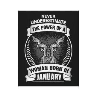 Horoscope January Canvas Print