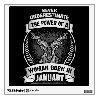 Horoscope January Wall Sticker