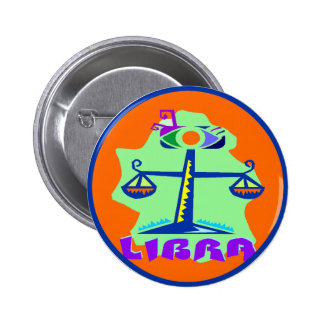 Horoscope Libra, Zodiac Sign Scale Symbol Button