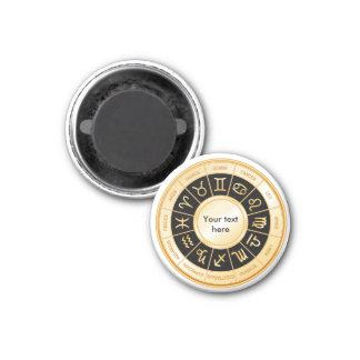 Horoscope Mandala 1 Inch Round Magnet
