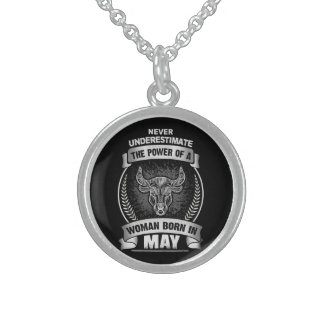 Horoscope May Sterling Silver Necklace