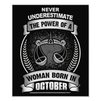 Horoscope October Photo Print