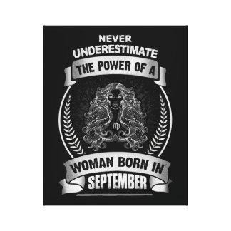 Horoscope September Canvas Print