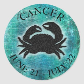 Horoscope Sign Cancer Crab Classic Round Sticker