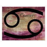 Horoscope Symbol for Cancer Purple Poster