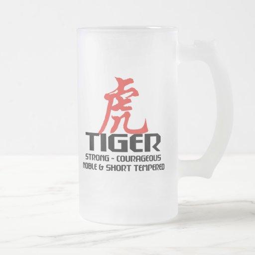 Horóscopo chino del año del nacimiento del tigre tazas de café