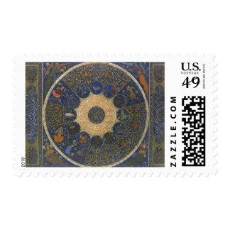Horóscopo de las reglas del vintage, zodiaco timbres postales