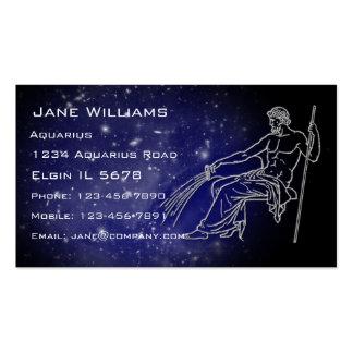 Horóscopo del acuario tarjetas de visita
