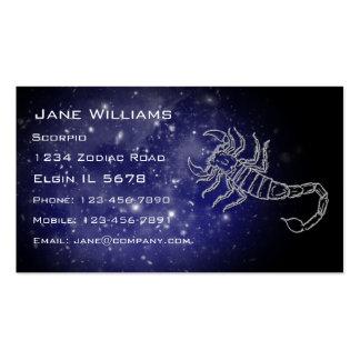 Horóscopo del escorpión tarjetas personales