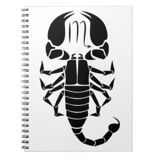 horóscopo del zodiaco de la astrología del libreta