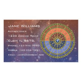 Horóscopo del zodiaco tarjetas de visita
