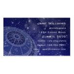 Horóscopo del zodiaco plantilla de tarjeta de visita
