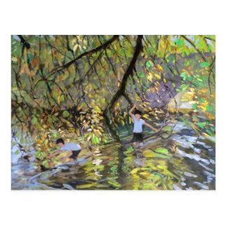 Horqueta 2008 del río tarjeta postal