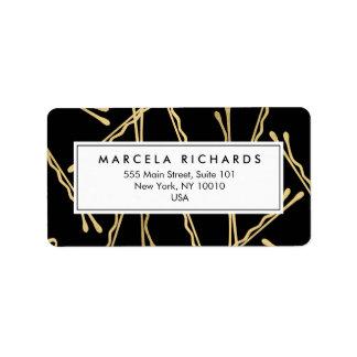 Horquillas Elegantes del oro Hairstylist, salón de Etiquetas De Dirección