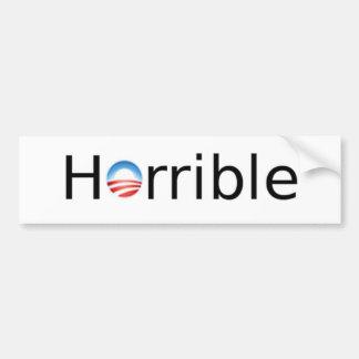 Horrible Anti-Obama Bumper Sticker