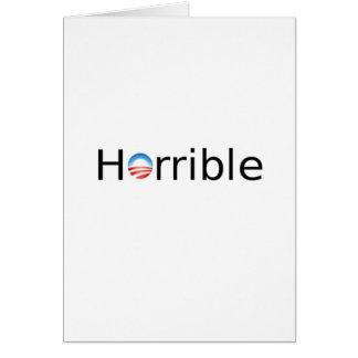 Horrible Anti-Obama Greeting Card