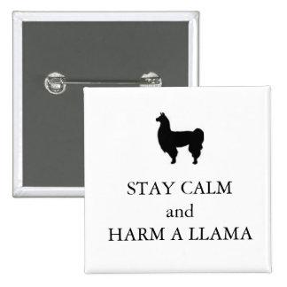 """Horrible Histories """"Harm a Llama"""" badge Pins"""