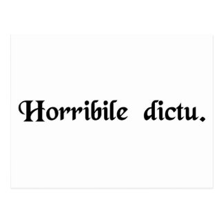 Horrible to tell. postcard