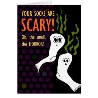 Horribly Smelley Ghostly Socks Card