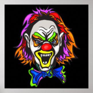 Horrid Evil Clown Poster
