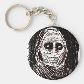 Horrifying House-guest, Never Alone, Uninvited Basic Round Button Keychain