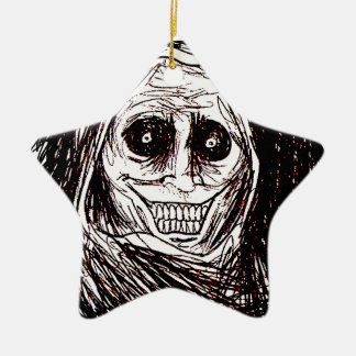 Horrifying House-guest, Never Alone, Uninvited Ceramic Ornament