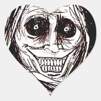 Horrifying House-guest, Never Alone, Uninvited Heart Sticker