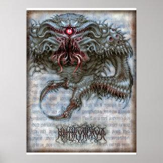 Horror 18x24 del hoyo póster