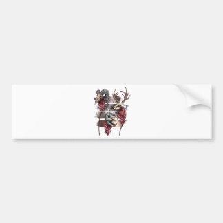 Horror Animal Curse Skeleton Skull Bumper Sticker