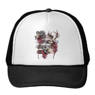 Horror Animal Curse Skeleton Skull Trucker Hat