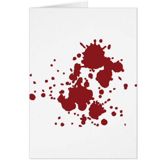 horror blood stains card