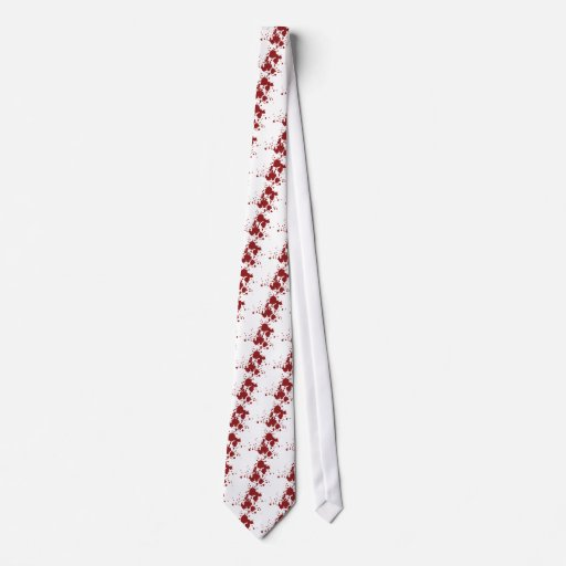 horror blood stains tie