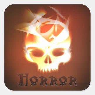 Horror Book Cover Genre Book Cover Square Sticker