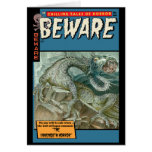 Horror Comic: Beware Card