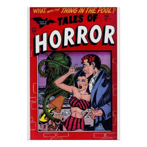 horror comic poster FROM 14.95