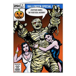 Horror Comic Style Halloween Greetings Greeting Card