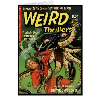 Horror Comic: Weird Thrillers 4 Greeting Card
