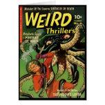 Horror cómico: Novelas de suspense extrañas 4 Tarjetas