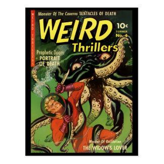 Horror cómico: Novelas de suspense extrañas 4 Postales