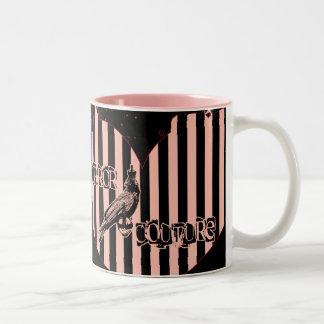 horror couture heart logo mug