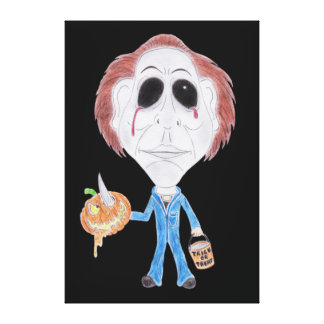 Horror Cult Movie Caricature Serial Killer Canvas Canvas Print