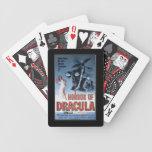 Horror de la película del vintage - barajas de cartas