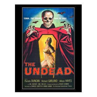 Horror de la película del vintage - tarjeta postal